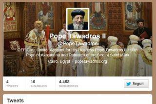 El nuevo papa copto se estrena en Twitter