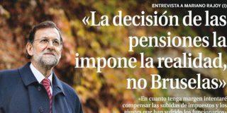 """La Razón no ve el 'pensionazo' de Rajoy: """"El Gobierno subirá un 2% las pensiones"""""""