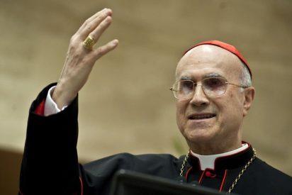 """Bertone pide que se administren """"con transparencia"""" los bienes de la Iglesia"""