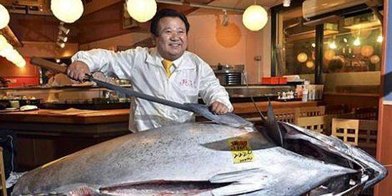 Un japonés paga 1,3 millones de euros por un atún rojo en la lonja de Tokio