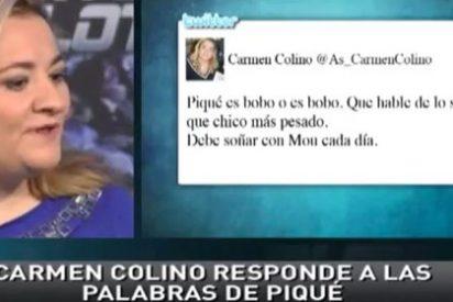 """Carmen Colino revoluciona Twitter tras llamar """"bobo"""" a Piqué y después se ratifica en 'Punto Pelota': """"No es quién para dar lecciones de periodismo"""""""