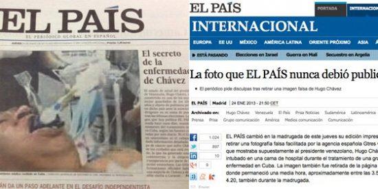 """Las 'disculpas' de El País por la foto de Chávez: """"La agencia nos pidió que no se diesen detalles"""""""