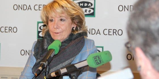 """Esperanza Aguirre: """"Hay que poner un fiscal anticorrupción dentro de los partidos políticos"""""""