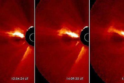La gigantesca y ardiente 'mancha' que el Sol ha disparado contra la Tierra