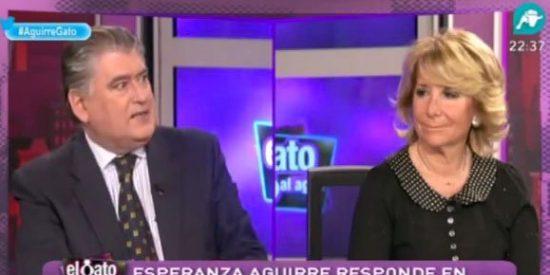 """Horcajo a Esperanza Aguirre: """"Usted mimó a empresarios que ahora están en la cárcel"""""""