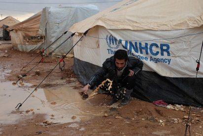 Refugiados sirios huyen del refugio