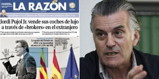 Los 22 millones de euros de Bárcenas no son noticia para La Razón