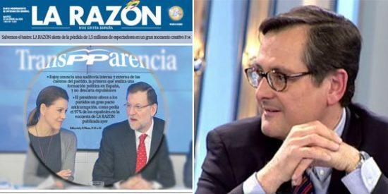 Marhuenda, que escondió el 'caso Bárcenas', se deshace en elogios hacia la 'TransPParencia' de Rajoy
