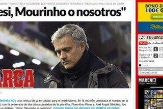 "Iker Casillas y Sergio Ramos, a Florentino Pérez: ""Presi, en junio o Mourinho...o nosotros"""