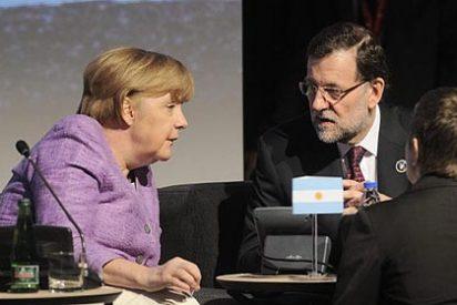 """Mariano Rajoy: """"Con la señora Merkel muy bien, muy bien"""""""