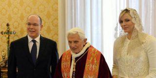 El Papa recibe a los príncipes de Mónaco en audiencia privada