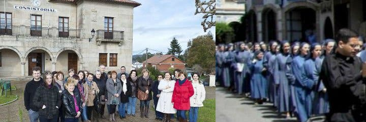 32 familias gallegas de Zas cuentan la pesadilla que están viviendo con las monjas azules