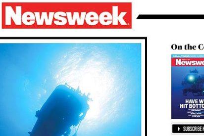La primera portada de la nueva revista Newsweek digital se mueve