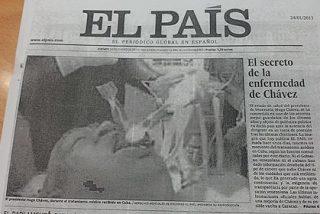 'El País', Hugo Chávez, la pifia de la foto y maestros del periodismo en PRISA