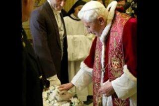 El Papa bendice los corderos por Santa Inés