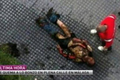Fallece el hombre que se quemó a lo bonzo en Málaga porque no tenía ni para comer