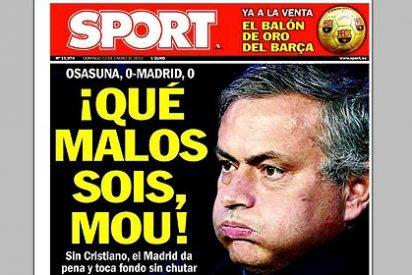 Los culés de 'Sport' se despachan con una portada venenosa contra el Real Madrid