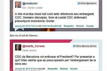 Duran i Lleida se la envaina y pide disculpas a Convergencia por el tuit de la portavoz de Unió