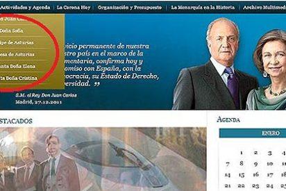 La Casa del Rey excluye de su página web a Iñaki Urdangarín