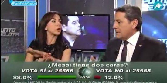 """Carme Barceló critica a Josep Pedrerol por preguntar a la audiencia si Messi tiene dos caras y acaba estallando: """"¡Os interesa encender el fuego anti-Messi!¡Esto es el aparato de Madrid!"""""""
