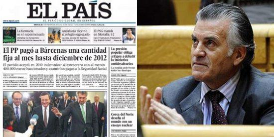 El País 'vende' que el PP pagó un 'sueldo fijo' a Bárcenas cuando sólo era su indemnización