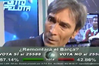 Lobo Carrasco se empeña en no reconocer el mal partido del Barça en San Siro y se lleva sopapos de Pedrerol, Buyo, Roncero y Damián González