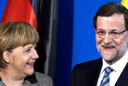 """Rajoy ante Merkel: """"Todo es falso, salvo algunas cosas"""""""