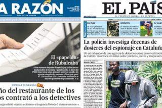 La Razón y El País se suben al carro de la trama de espías en Cataluña