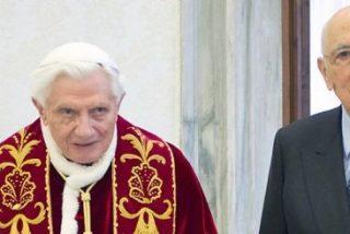 "Ratzinger se despide del presidente Napolitano: ""Rezaré por Italia"""