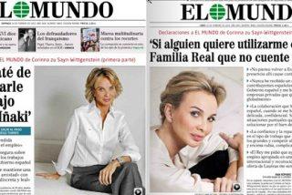 Corinna posa como rubia fatal en El Mundo para desmarcarse de los negocios sucios de Urdangarín