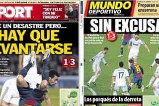 """La prensa madrileña y catalana, de acuerdo: """"El Real Madrid pegó un revolcón al Barça"""""""