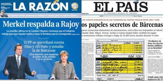 """La vida sigue igual en La Razón: """"Merkel respalda a Rajoy"""""""