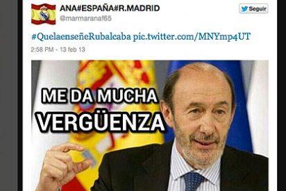 El PP lanza la campaña #Que la enseñe Rubalcaba y Twitter se parte de risa