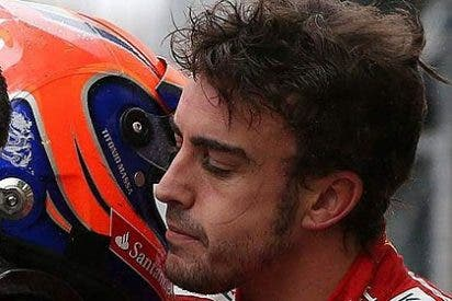 Fernando Alonso daña el alerón con Vettel en la salida del GP F1 de Malasia y abandona en la segunda vuelta