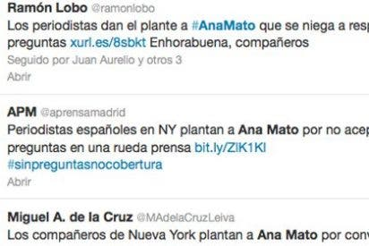 Bombardeo de tuits de los corresponsales españoles que han dado planton a Ana Mato en Nueva York