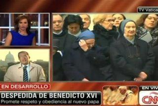 Benedicto XVI vio en televisión sus últimas horas como pontífice