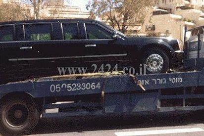 Averían en Israel a la 'Bestia', la limusina blindada del presidente Obama