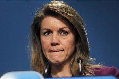 """Cospedal, tras otra 'semana horribilis' por el caso Bárcenas: """"El PP va muy bien"""""""