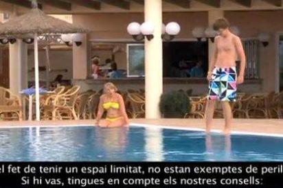 'Aparecen' los vídeos del Govern para que los turistas no tengan accidentes...¡en castellano!