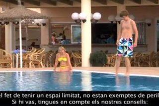 El Govern se luce y edita dos vídeos para que los turistas no sufran accidentes...¡en catalán!