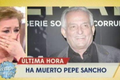 """Lágrimas, dolor y extrañas reacciones ante la muerte de Pepe Sancho en 'QTTF': """"Era muy buen actor, pero tenía muy mala leche"""""""