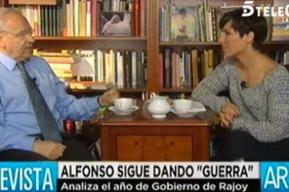 """Alfonso Guerra, que no dejó su escaño por el caso de su hermano, da lecciones al PP por Bárcenas: """"Aquí no dimite nadie"""""""