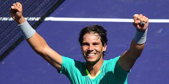 El 'Rey' Nadal derrota a un corajudo Del Potro y se corona de nuevo en Indian Wells