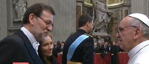 """Rajoy al Papa: """"Hay muchos españoles contentos con su elección"""""""