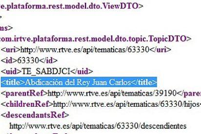 RTVE prepara ya su web para la abdicación del Rey Juan Carlos