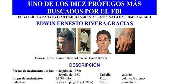 Un pandillero de la mara Salvatrucha, entre los diez más buscados del FBI