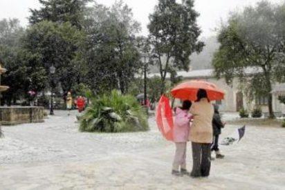Tres autocares de turistas del Imserso se quedan atrapados por la nieve en sa Calobra