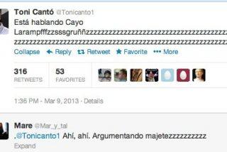 Mientras Cayo Lara pontificaba en laSexta Noche, Toni Cantó se mofaba de él 'roncando' en Twitter