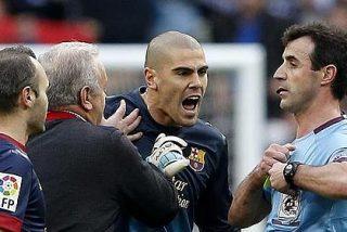 El 'hijo de puta' y otras cosas de Víctor Valdés que el árbitro no puso en el acta