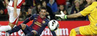 Messi y Villa se entienden para hacer que el Barça gane 3-1 al Rayo Vallecano